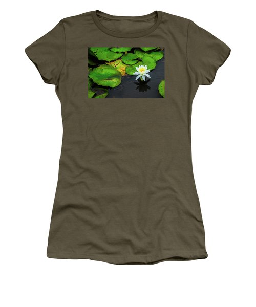 White Lily And Rippled Water Women's T-Shirt