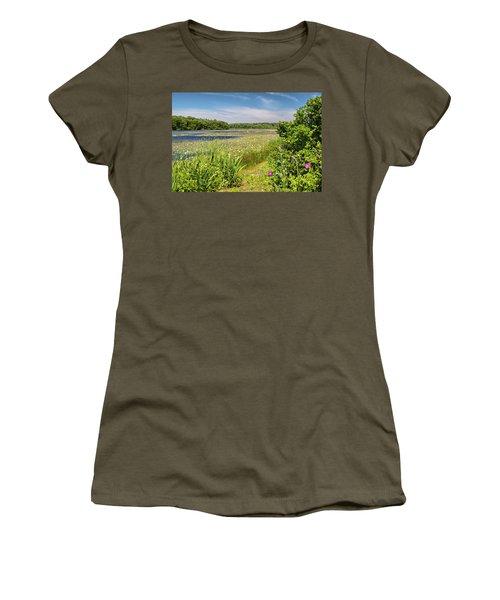 White Lily Pond  Women's T-Shirt