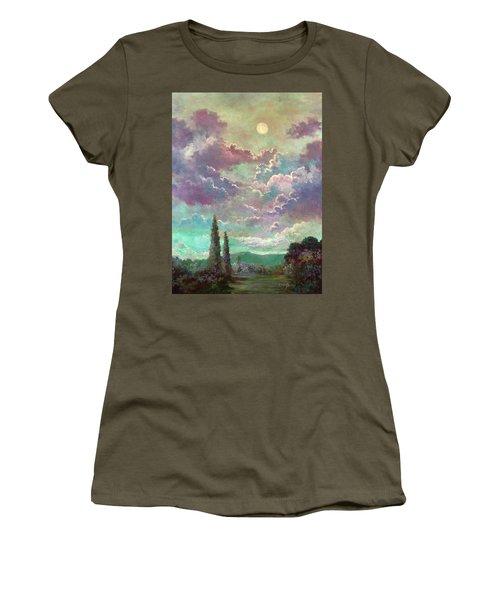 White Moon Rising Women's T-Shirt