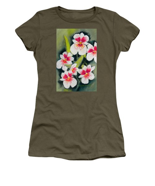 White Orchids  Women's T-Shirt