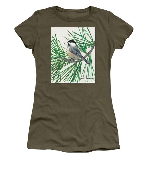 White Pine Chickadee Women's T-Shirt (Athletic Fit)