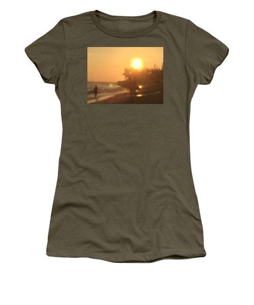 White Plains Beach Women's T-Shirt (Athletic Fit)