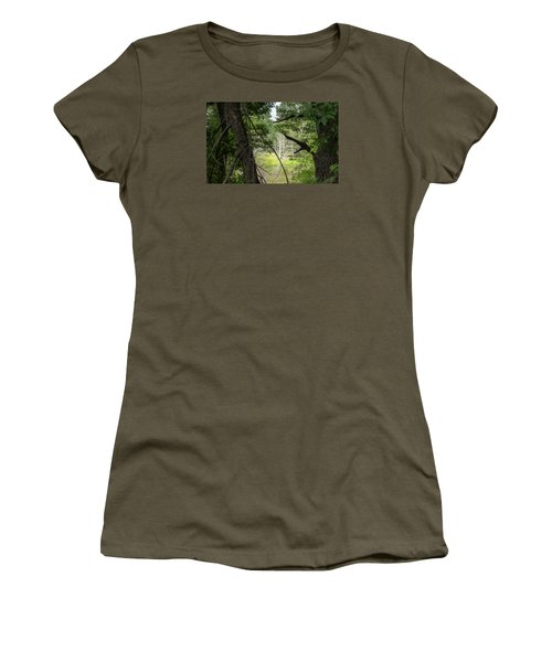 White Tree In Magic Forest Women's T-Shirt