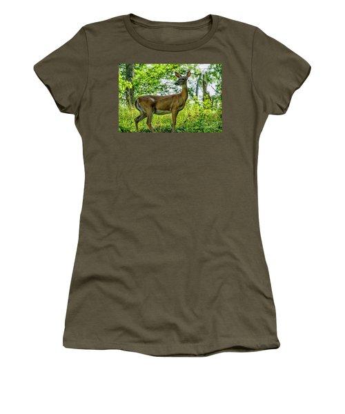 Women's T-Shirt (Junior Cut) featuring the photograph Whitetail Deer  by Thomas R Fletcher
