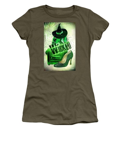 Women's T-Shirt (Junior Cut) featuring the digital art Wicked by Mo T