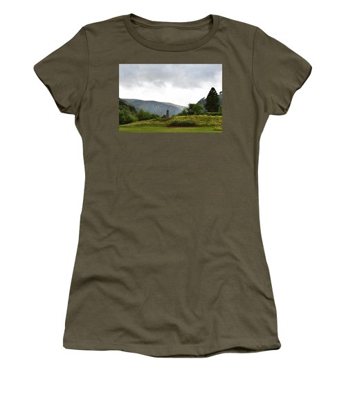 Women's T-Shirt (Junior Cut) featuring the photograph Wicklow Mountains by Terence Davis