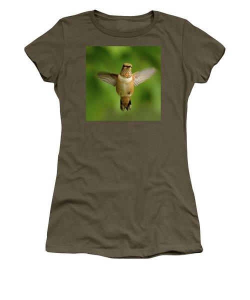 Wide Open Women's T-Shirt (Junior Cut) by Sheldon Bilsker