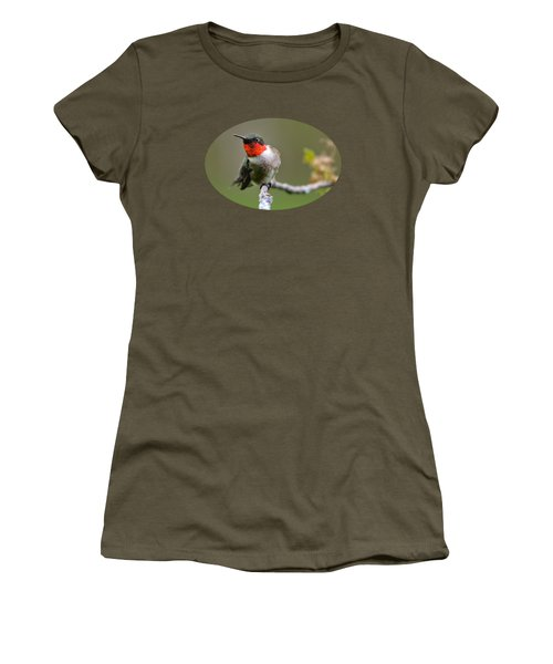 Wild Birds - Ruby-throated Hummingbird Women's T-Shirt (Athletic Fit)