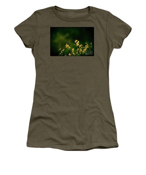 Evening Wild Flowers Women's T-Shirt (Junior Cut)