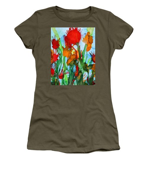 Wild Flowers Women's T-Shirt (Athletic Fit)