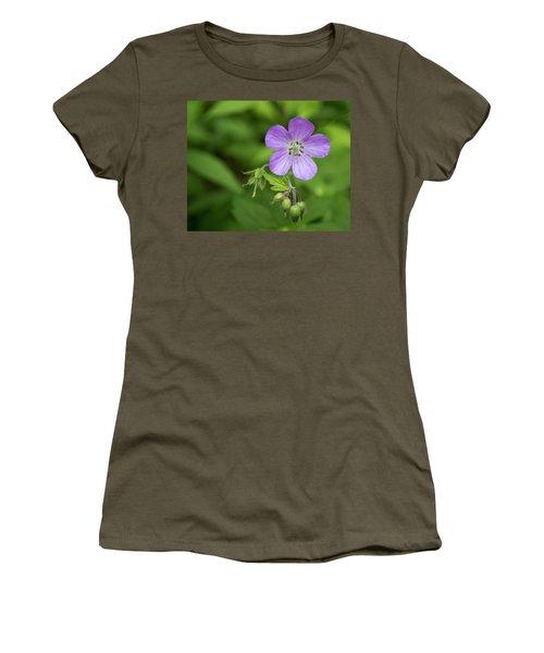 Wild Geranium Women's T-Shirt (Athletic Fit)