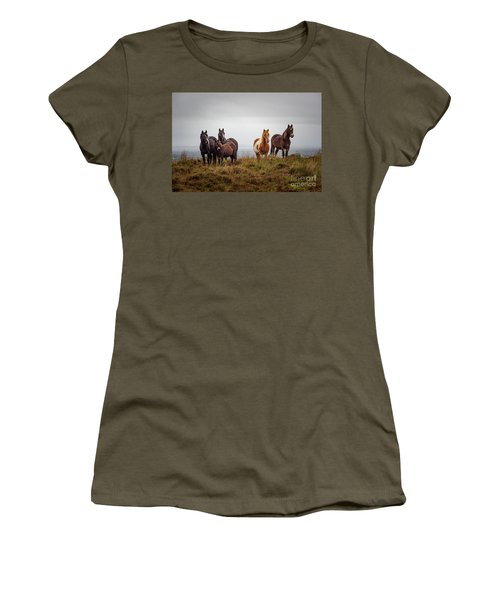 Wild Horses In Ireland Women's T-Shirt (Athletic Fit)