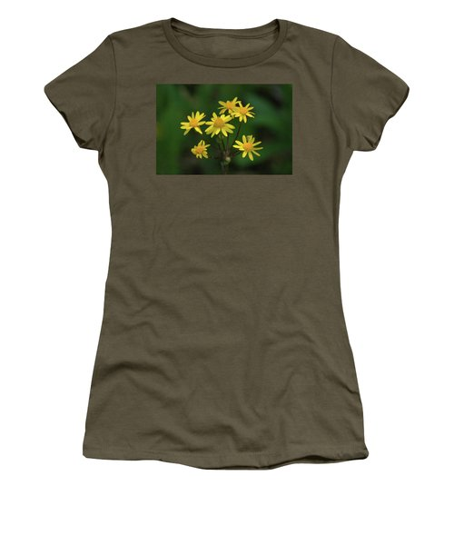 Women's T-Shirt (Junior Cut) featuring the photograph Wild Meadow Daisies by LeeAnn McLaneGoetz McLaneGoetzStudioLLCcom