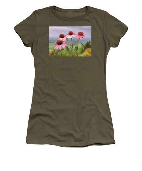 Wild Purple Coneflowers Women's T-Shirt