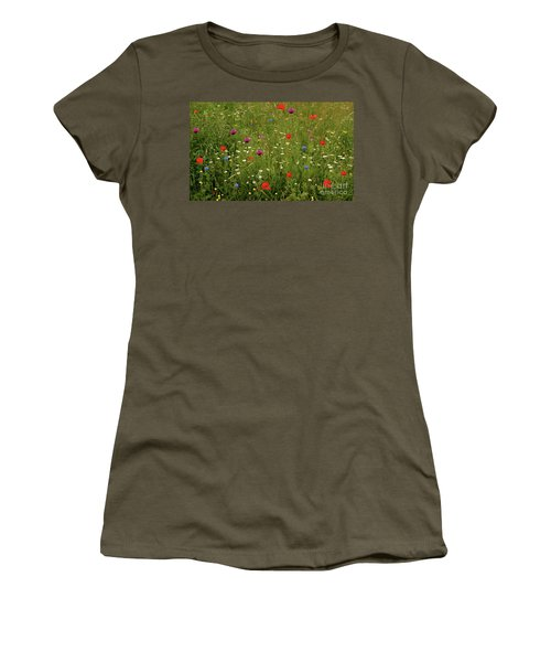 Wild Summer Meadow Women's T-Shirt (Athletic Fit)