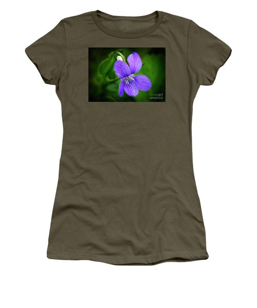 Wild Violet Flower Women's T-Shirt