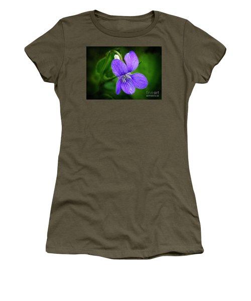 Wild Violet Flower Women's T-Shirt