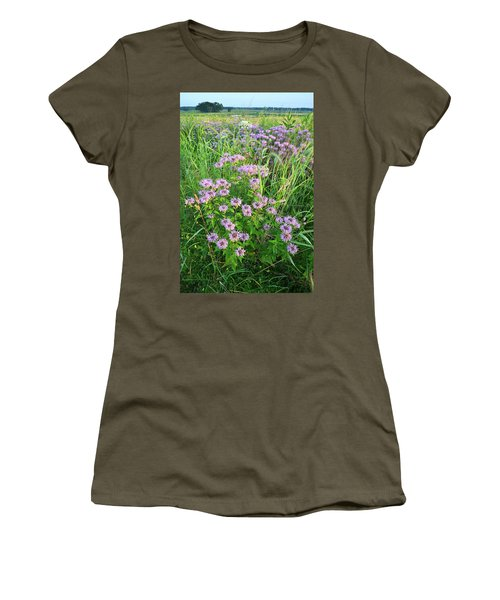 Wildflower Bouquet In Glacial Park Women's T-Shirt