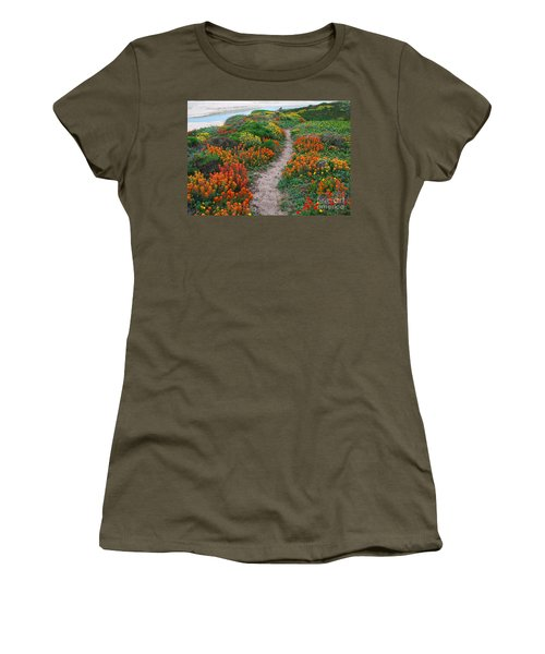 Wildflower Path At Ribera Beach Women's T-Shirt (Athletic Fit)