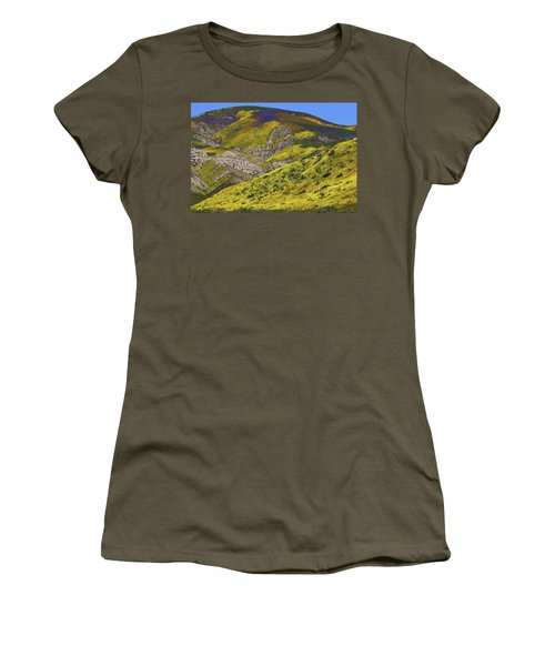 Wildflowers Galore At Carrizo Plain National Monument In California Women's T-Shirt (Junior Cut) by Jetson Nguyen