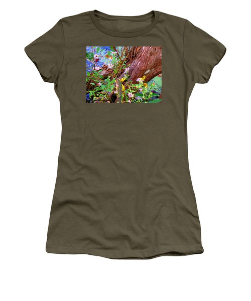 Wildflowers On A Cypress Knee Women's T-Shirt