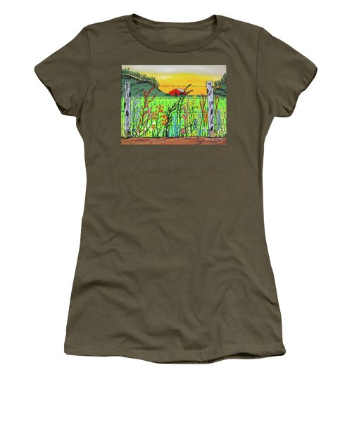 Wildflowers On The Farm Women's T-Shirt (Athletic Fit)