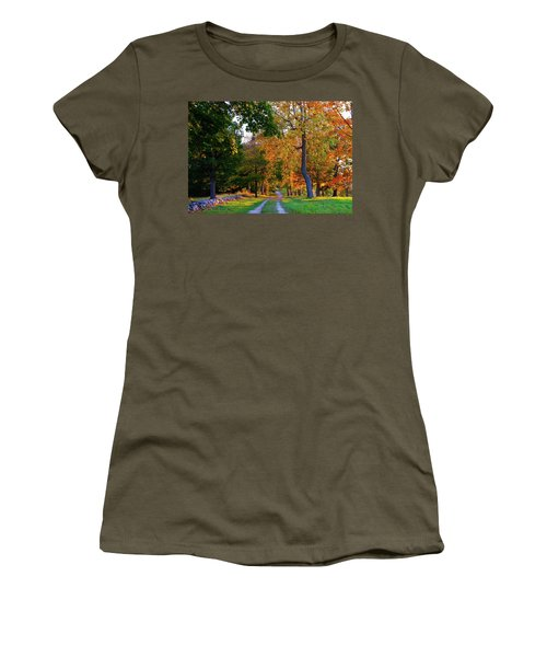 Winding Road In Autumn Women's T-Shirt (Athletic Fit)