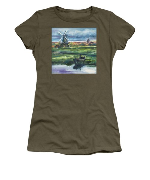 Windmills Women's T-Shirt (Athletic Fit)