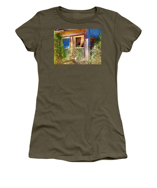 Women's T-Shirt (Junior Cut) featuring the photograph Window 2 by Susan Kinney