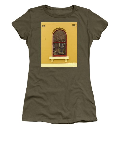 Women's T-Shirt (Junior Cut) featuring the photograph Window And Window 2 by Perry Webster