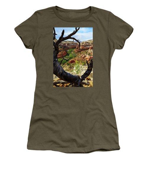 Women's T-Shirt (Junior Cut) featuring the photograph Window by Chad Dutson