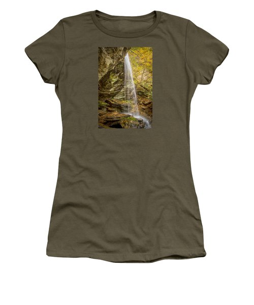 Women's T-Shirt (Junior Cut) featuring the photograph Window Falls In The Autumn by Bob Decker