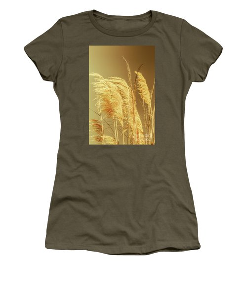 Windswept Autumn Brush Grass Women's T-Shirt