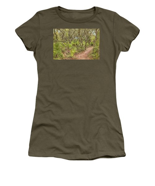 Women's T-Shirt (Athletic Fit) featuring the photograph Windswept Hammock by John M Bailey