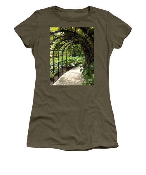 Wine Walk Women's T-Shirt (Junior Cut) by Erick Schmidt