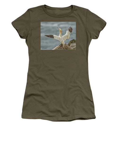 Wing Flap Women's T-Shirt (Junior Cut) by CR Courson