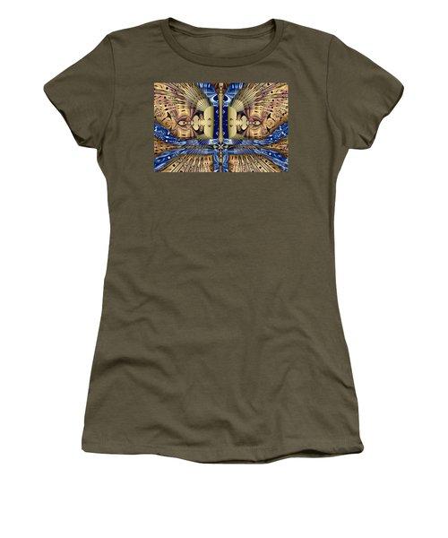 Winged Anubis Women's T-Shirt (Junior Cut) by Jim Pavelle