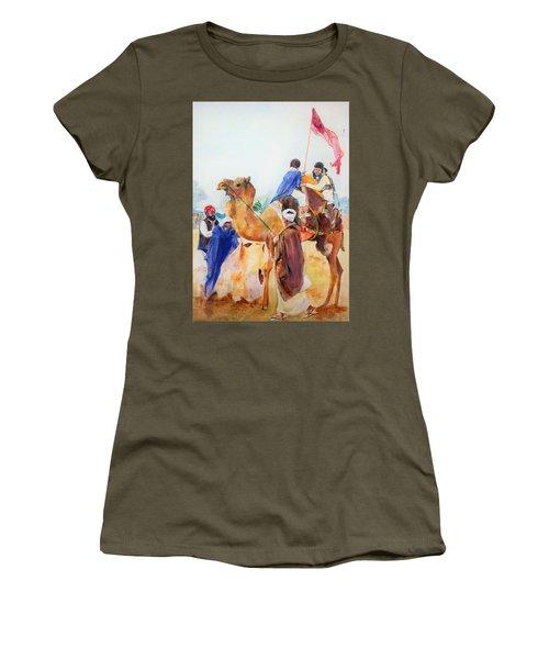 Winning Celebration Women's T-Shirt (Junior Cut) by Khalid Saeed