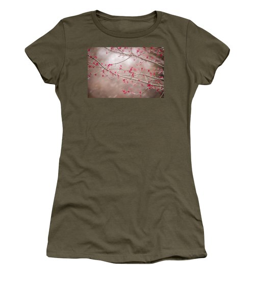 Women's T-Shirt (Junior Cut) featuring the photograph Winter And Spring by Terry DeLuco