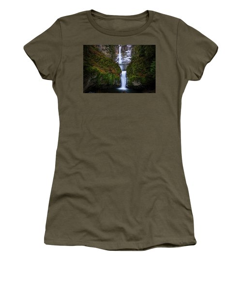 Winter At Multnomah Falls Women's T-Shirt