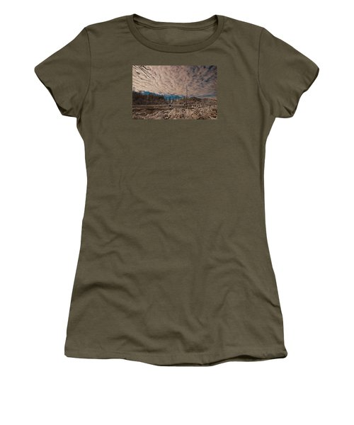 Women's T-Shirt (Junior Cut) featuring the photograph Winter In The Wetlands by John Harding