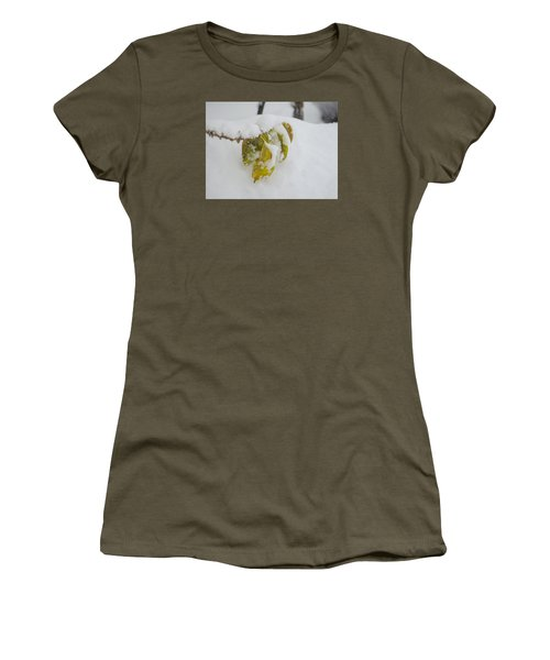 Winter Leaves Women's T-Shirt (Junior Cut) by Deborah Smolinske