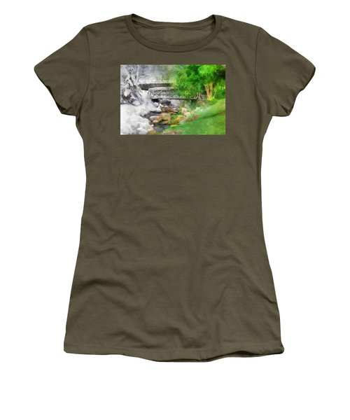 Winter Melt To Spring Women's T-Shirt (Junior Cut) by Francesa Miller