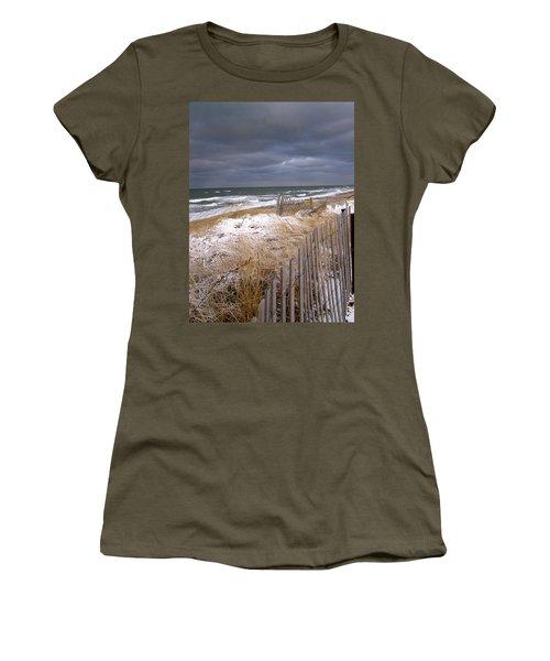 Winter On Cape Cod Sandy Neck Beach Women's T-Shirt