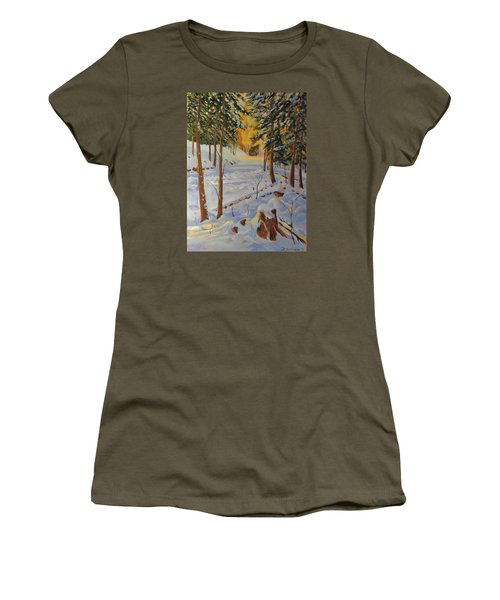 Winter On The Lane Women's T-Shirt (Junior Cut) by David Gilmore