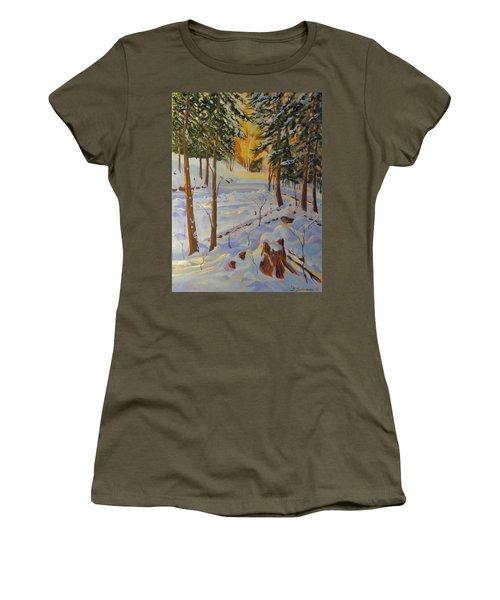 Winter On The Lane Women's T-Shirt