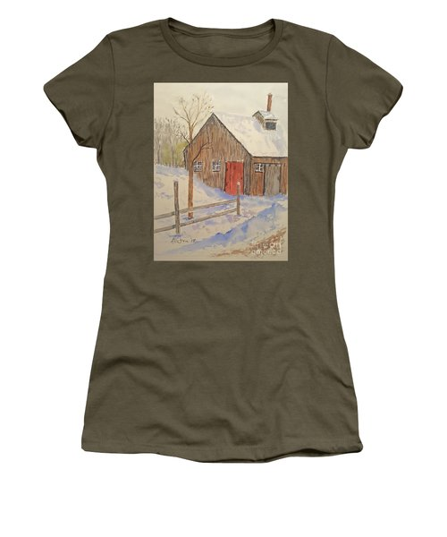 Winter Sugar House Women's T-Shirt (Athletic Fit)