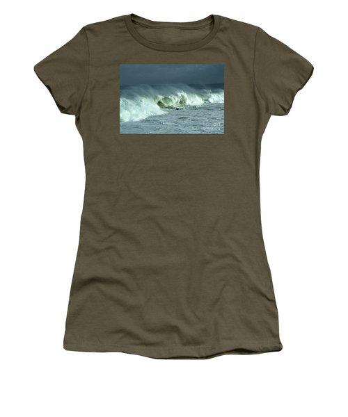 Winter Surf On Monterey Bay Women's T-Shirt