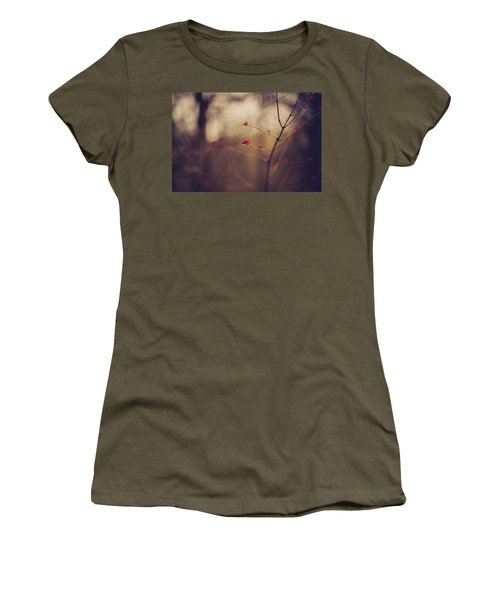 Women's T-Shirt (Junior Cut) featuring the photograph Winter Whispers by Shane Holsclaw