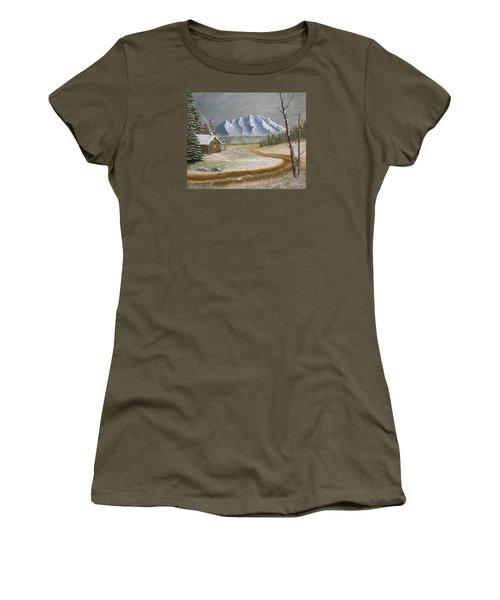 Winter's Arrival Women's T-Shirt (Junior Cut) by Sheri Keith
